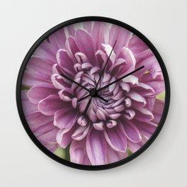 Soft Pink Mum, Nature Photography, Flower, Floral Print, Flower Print, Nature Print, Macro Art Wall Clock
