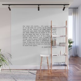 For what it's worth... F. Scott Fitzgerald Wall Mural