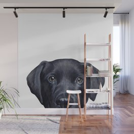 Labrador with white background Dog illustration original painting print Wall Mural