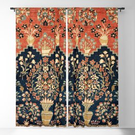 Kashan Poshti  Antique Central Persian Rug Print Blackout Curtain
