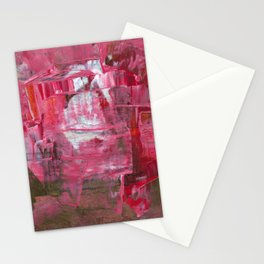 Pink on Top Abstract Modern Fine Art Stationery Cards