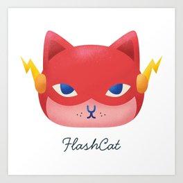 Flash Cat Art Print