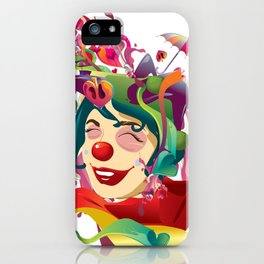 happines is not always feeling happy iPhone Case