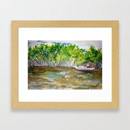 Florida Mangrove Tea Water in the Everglades Framed Art Print
