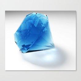 Diamond (blue) Canvas Print