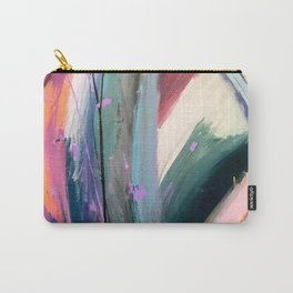 Eye of the Beholder [4]: a colorful, vibrant abstract in purples, blues, orange, pink, and gold Carry-All Pouch