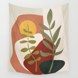 Two Abstract Branches Wall Tapestry