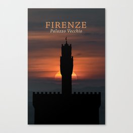 Graphic Silhouette Florence Poster Canvas Print