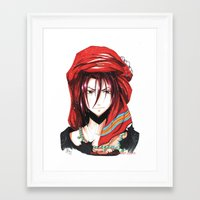 iwatobi Framed Art Prints featuring Free! Iwatobi Swim Club Rin by Mistiqarts