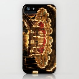 Paris, France Merry-go-round Photography in Stock 8 x 10 Fine Art Photography Vintage Retro iPhone Case