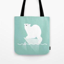 Polar bear in trouble Tote Bag