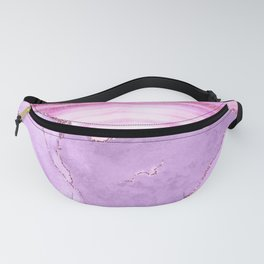 Purple Pink Mermaid Marble Glamour Landscapes Fanny Pack
