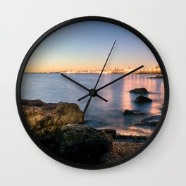 A break from routine. Tranquil spot in 'Montevideo, Uruguay' Wall Clock