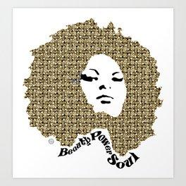 Beauty Power Soul Art Print