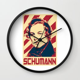 Robert Schumann Retro Propaganda Wall Clock