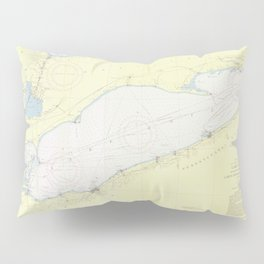 Vintage Map of Lake Erie (1955) Pillow Sham