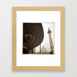 Monument and Glitterball Framed Art Print