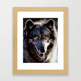 Magical Dark Wolf Framed Art Print