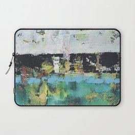 Aloe Abstract Painting Green Laptop Sleeve