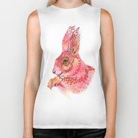 squirrel Biker Tanks featuring The squirrel magic  by Ola Liola