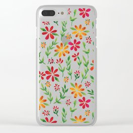 Dark Florals   Original White Palette Clear iPhone Case