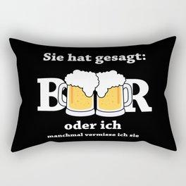 She Said Beer Or Me Rectangular Pillow