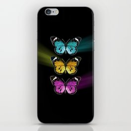 3 colorful butterflies iPhone Skin