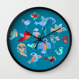 Quirky Birds Wall Clock