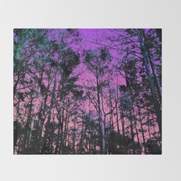 Forest (Sunset) Throw Blanket