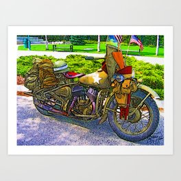 Old Man - Still Rollin' Art Print