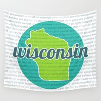 wisconsin Wall Tapestries featuring Words of Wisconsin by Katherine Paulin