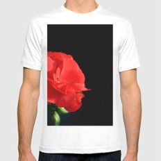 Red on black Mens Fitted Tee White MEDIUM