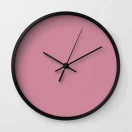 Puce - solid color Wall Clock