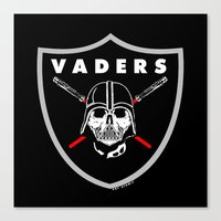 oakland Canvas Prints featuring Oakland Vaders by Ant Atomic