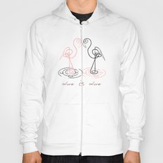 black&pink flamingo Hoody