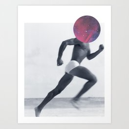 96 - that image to that song - running, reconnecting, falling in love this time with a spacehead #2 Art Print