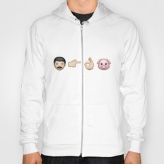 Emoji: Man Vs Pig Hoody