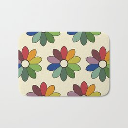 Flower pattern based on James Ward's Chromatic Circle Bath Mat