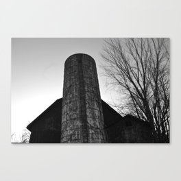 barn black and white Canvas Print