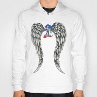 sonic Hoodies featuring Sonic Angel by Hollie B