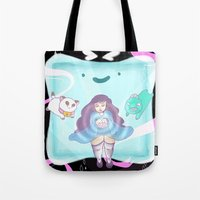 puppycat Tote Bags featuring Bee's Dream Sequence by Sudden Kittens