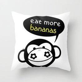 Eat More Bananas Throw Pillow