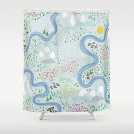 Westward Bound Shower Curtain
