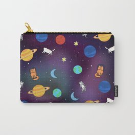 """""""Cats from outer space!"""" Galaxy Print Carry-All Pouch"""
