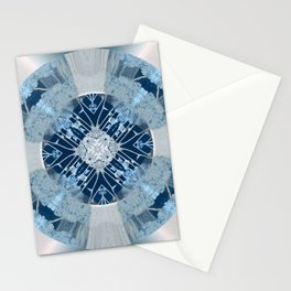 Microchip Mandala in Blue Stationery Cards
