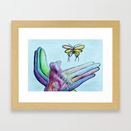 American Sign Language BUTTERFLY Framed Art Print