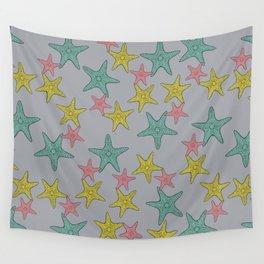 Starfish gray background Wall Tapestry