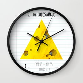 3.Cheesangle Wall Clock