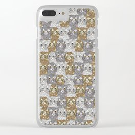 Kitties Galore Pattern Clear iPhone Case