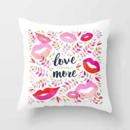 Love Yourself More #inspirational #society6 #decor Throw Pillow